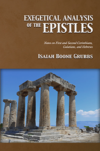Exegetical Analysis of the Epistles (cover)